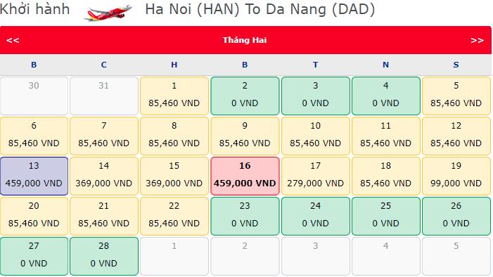 Vé máy bay chỉ từ 0 đồng Vietjet