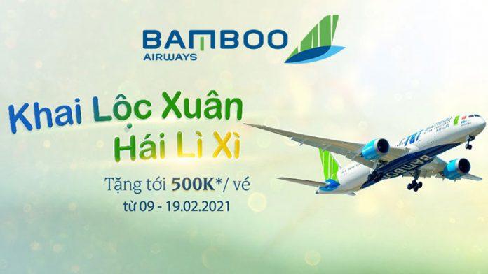 Cùng Bamboo Airways săn vé máy bay khai lộc xuân hái lì xì