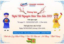 Lịch nghỉ Tết 2021 Khang vuong booking
