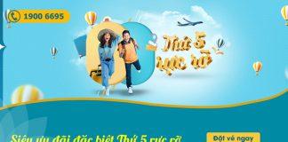 Khuyến mãi chỉ 488.000 VND thứ 5 rực rỡ cùng Vietnam Airlines