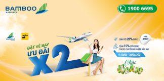 Khuyến mãi giảm 20% giá vé máy bay từ Bamboo Airways