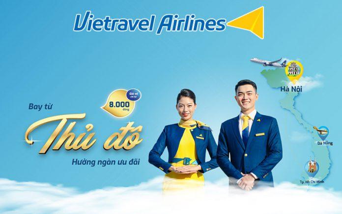 Vietravel Airlines khuyến mãi kích cầu du lịch chỉ từ 8.000 VND