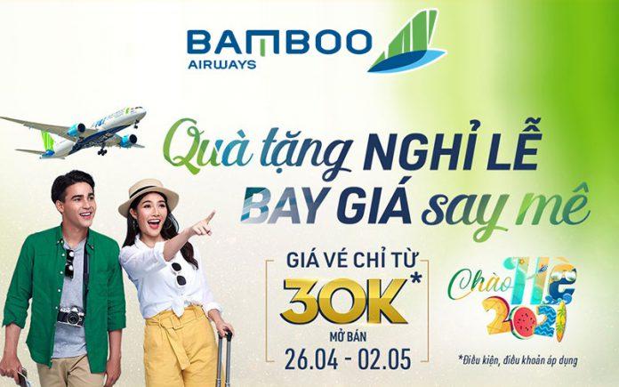 Bamboo Airways khuyến mãi chỉ từ 30.000 VND nhân dịp 30/4 – 01/05