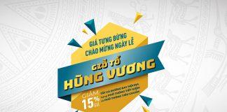 Vietnam Airlines giảm 15% giá vé mừng Lễ Giỗ Tổ Hùng Vương