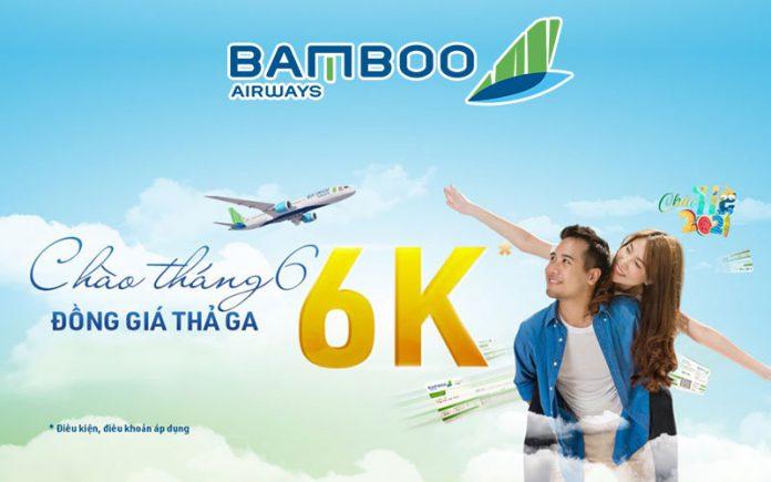 Chào tháng 6 Bamboo Airways khuyến mãi đồng giá chỉ từ 6.000 VND