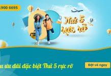 Vietnam Airlines khuyến mãi chỉ từ 593.000 VND thứ 5 rực rỡ