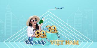 Khuyến mãi Vietnam Airlines bay khắp Việt Nam chỉ từ 39.000 VND