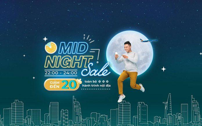 Vietnam Airlines giảm 20% giá vé nội địa khuyến mãi Mid – Night Sale