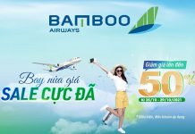 Bay cực đã cùng Bamboo Airways khuyến mãi đến 50%