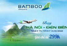 Khuyến mãi chỉ 299.000 VND bay Hà Nội – Điện Biên từ Bamboo Airways