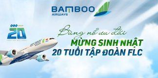 Khuyến mãi Bamboo Airways mừng sinh nhật FLC chỉ từ 20.000 VND