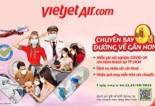 Đường về gần hơn với khuyến mãi vé máy bay 0 đồng từ Vietjet